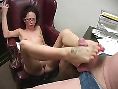 Glasses, Footjob